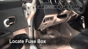Interior Fuse Box Location: 20072012 Nissan Versa  2008 Nissan Versa S 18L 4 Cyl Sedan