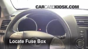Interior Fuse Box Location: 20082013 Toyota Highlander  2008 Toyota Highlander Sport 35L V6