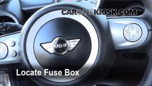 Interior Fuse Box Location: 20082015 Mini Cooper  2009 Mini Cooper Clubman 16L 4 Cyl