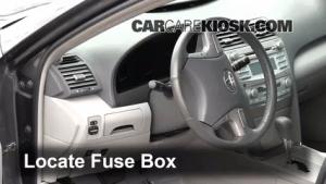 Interior Fuse Box Location: 20072011 Toyota Camry  2009
