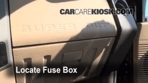 Interior Fuse Box Location: 20082014 Ford F250 Super