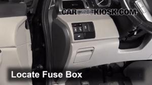Interior Fuse Box Location: 20112016 Honda Odyssey  2011 Honda Odyssey EXL 35L V6