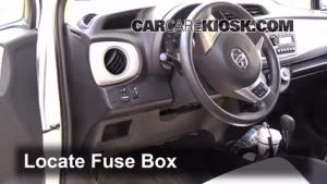 Interior Fuse Box Location: 20122016 Toyota Yaris  2012