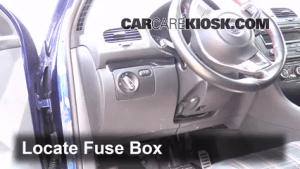 Interior Fuse Box Location: 20062014 Volkswagen GTI