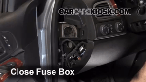 Interior Fuse Box Location: 20072013 Chevrolet Suburban 1500  2009 Chevrolet Suburban 1500 LS