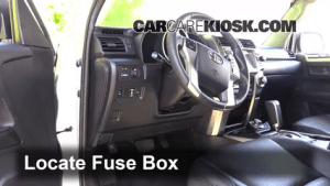 Interior Fuse Box Location: 20102016 Toyota 4Runner  2013 Toyota 4Runner Limited 40L V6