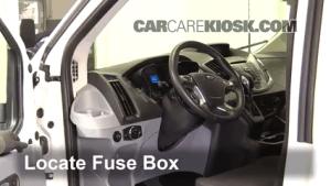 Interior Fuse Box Location: 20152016 Ford Transit350 HD  2016 Ford Transit350 HD XLT 37L V6