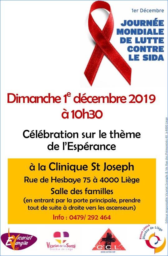 Messe dominicale à l'occasion de la Journée Mondiale de lutte contre le SIDA