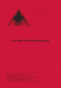 You are currently viewing Lettre n°139 – 2ème trimestre 2018