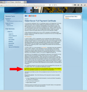 city of chicago full payment certification website