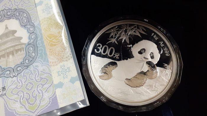 1 Kg Panda Cinese d'argento Proof (2020)