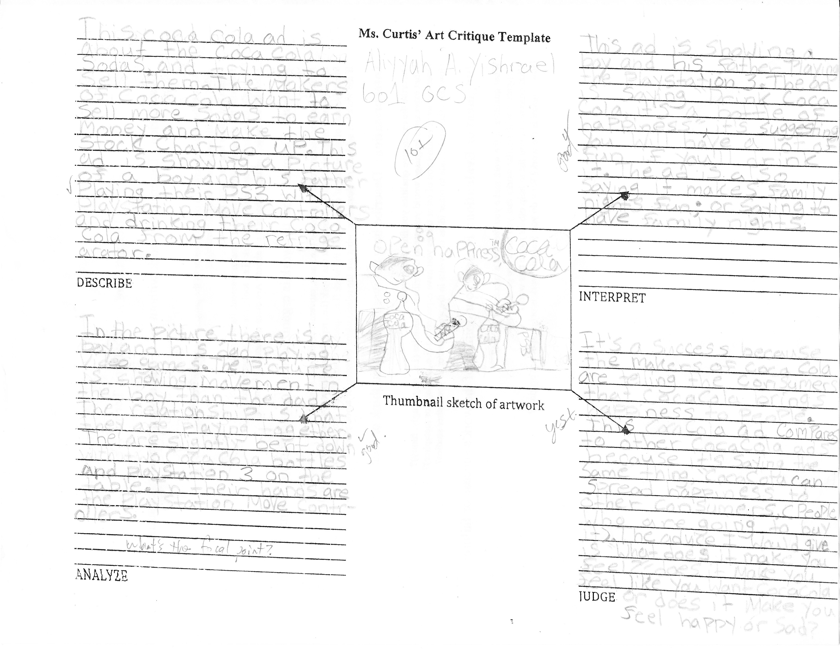 Teachable Moment Writing Artist Statements