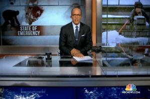 Lester Holt on NBC News set