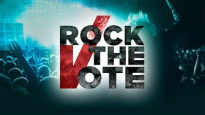 Rock the Vote sign