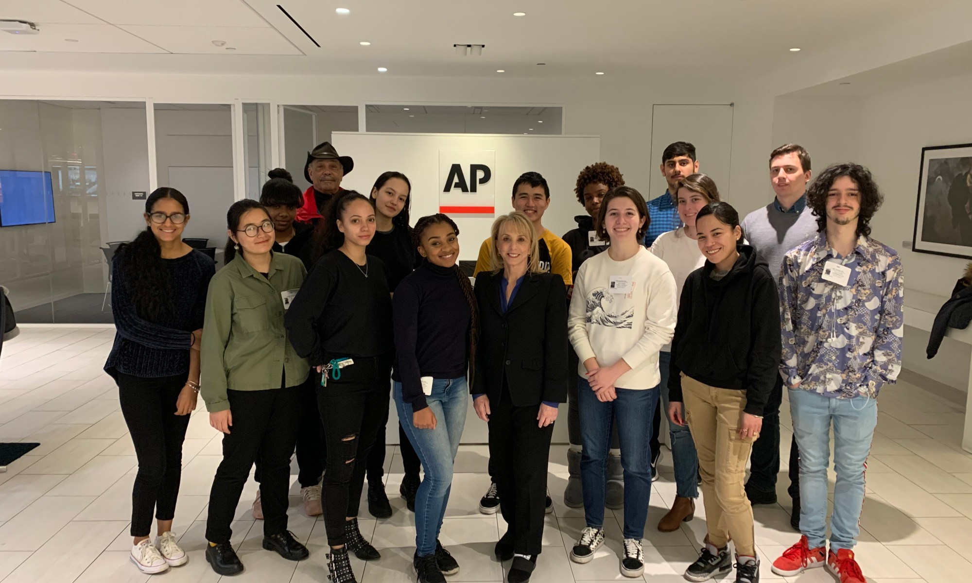 Introduction to Journalism Visits the Associated Press