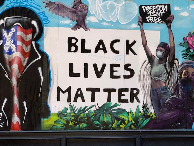 Black Lives Matter Mural in Soho. Photo by ConsumerMojo.com