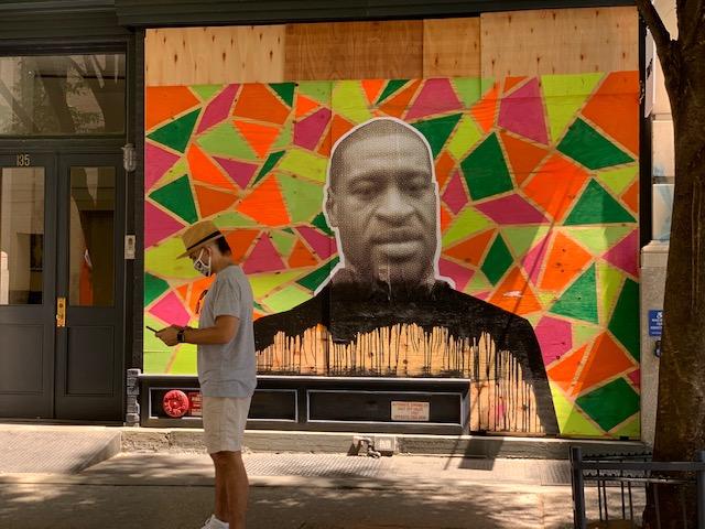 George Floyd Mural in Soho
