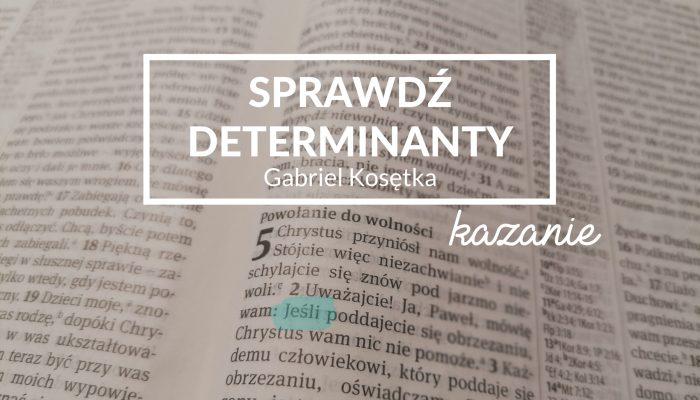 Sprawdź determinanty