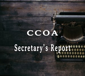 CCOA Secretary's Report