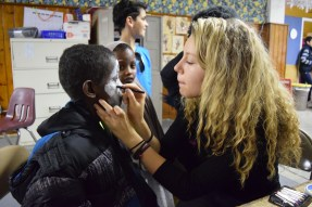 Expert face painting at the CYO
