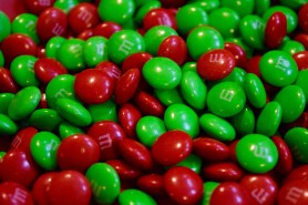Holiday-themed M&Ms are a must.