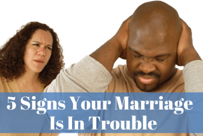 Marriage counselor Vincent discusses 5 signs that your marriage is in trouble.