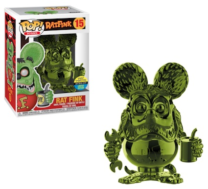 POP ICONS RAT FINK Green Chrome SDCC 2019 VF 15
