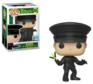 POP TELEVISION GREEN HORNET KATO Maskless  SDCC 2019 VF 856
