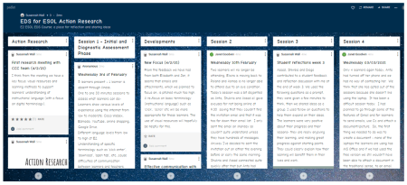 Image of the collaborative padlet