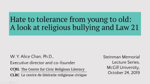 """Hate to tolerance from young to old: A look at religious bullying and Law 21"""