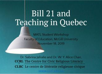 """""""Bill 21 & Teaching in Quebec"""", Education student workshop"""