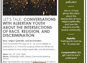 """""""Let's Talk"""": Conversations with Albertan youth"""