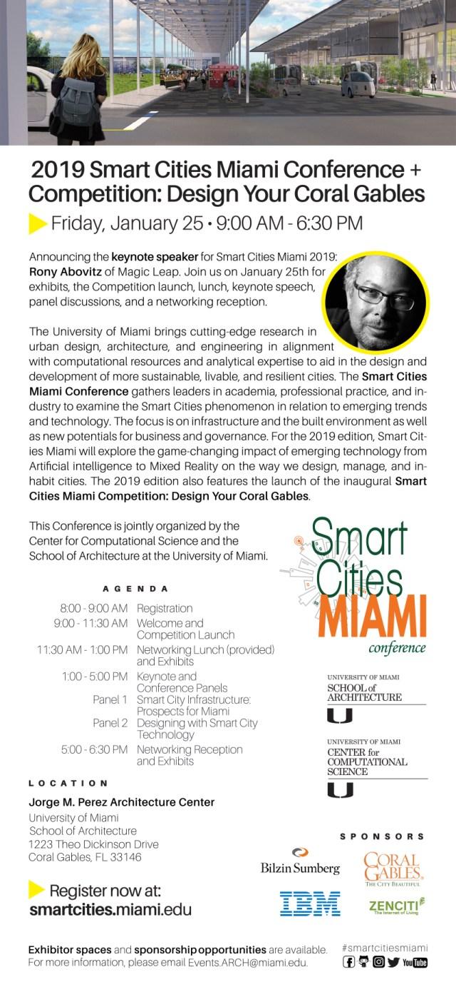 Smart Cities Miami 2019 flyer
