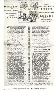 Page of rules and orders from 16th century coffee house