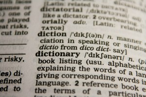 Image of a dictionary page