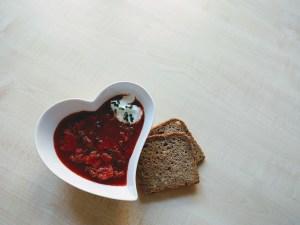 borscht and rye bread