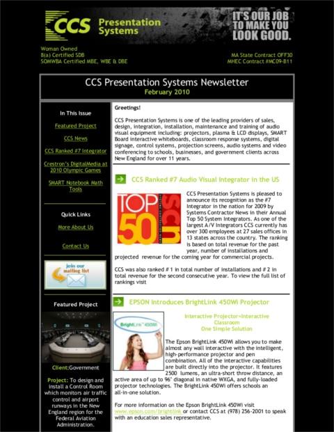 Feb 2010 Newsletter1