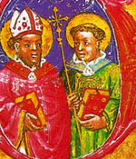 Deacon Fortunatus on right