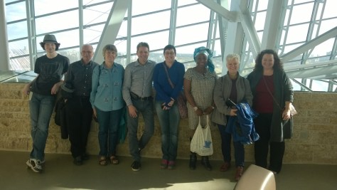 CCS students visiting the Canadian Museum of Human Rights in Winnipeg