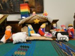 colourful nativity scene