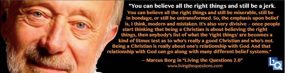 quote from Marcus Borg