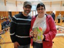 Guest Steve Heinrichs with Melanie and her well-marked copy of Steve's book.