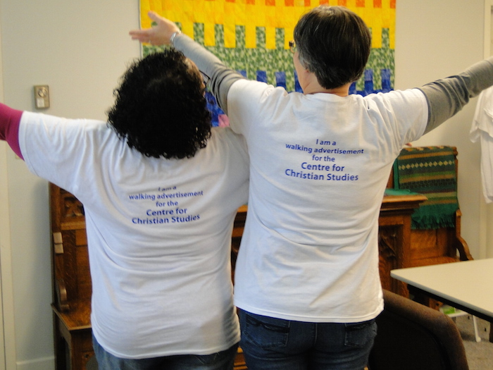 I am a walking advertisement for the Centre for Christian Studies