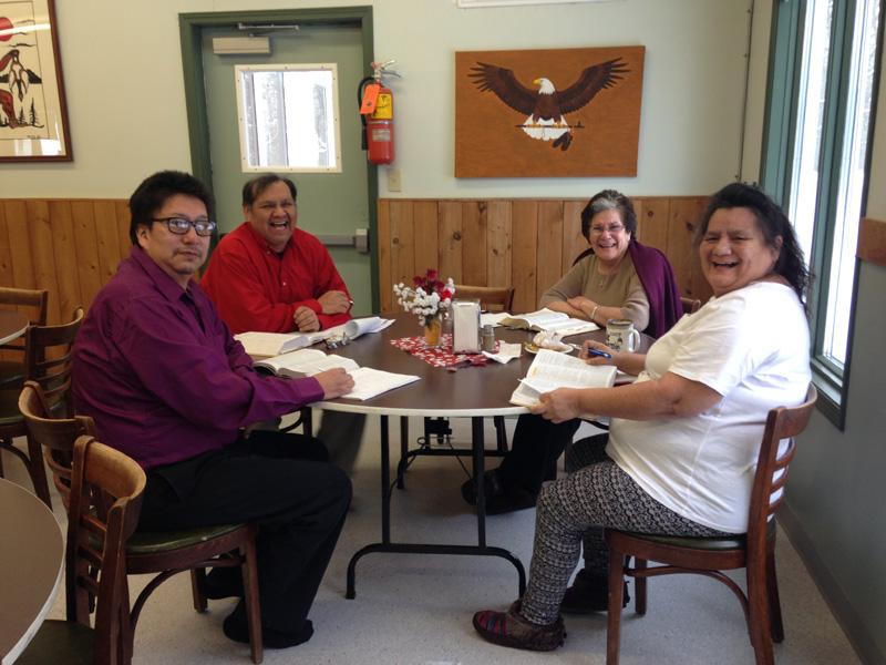Keith, John, Judy, and Deb at Sandy-Saulteaux