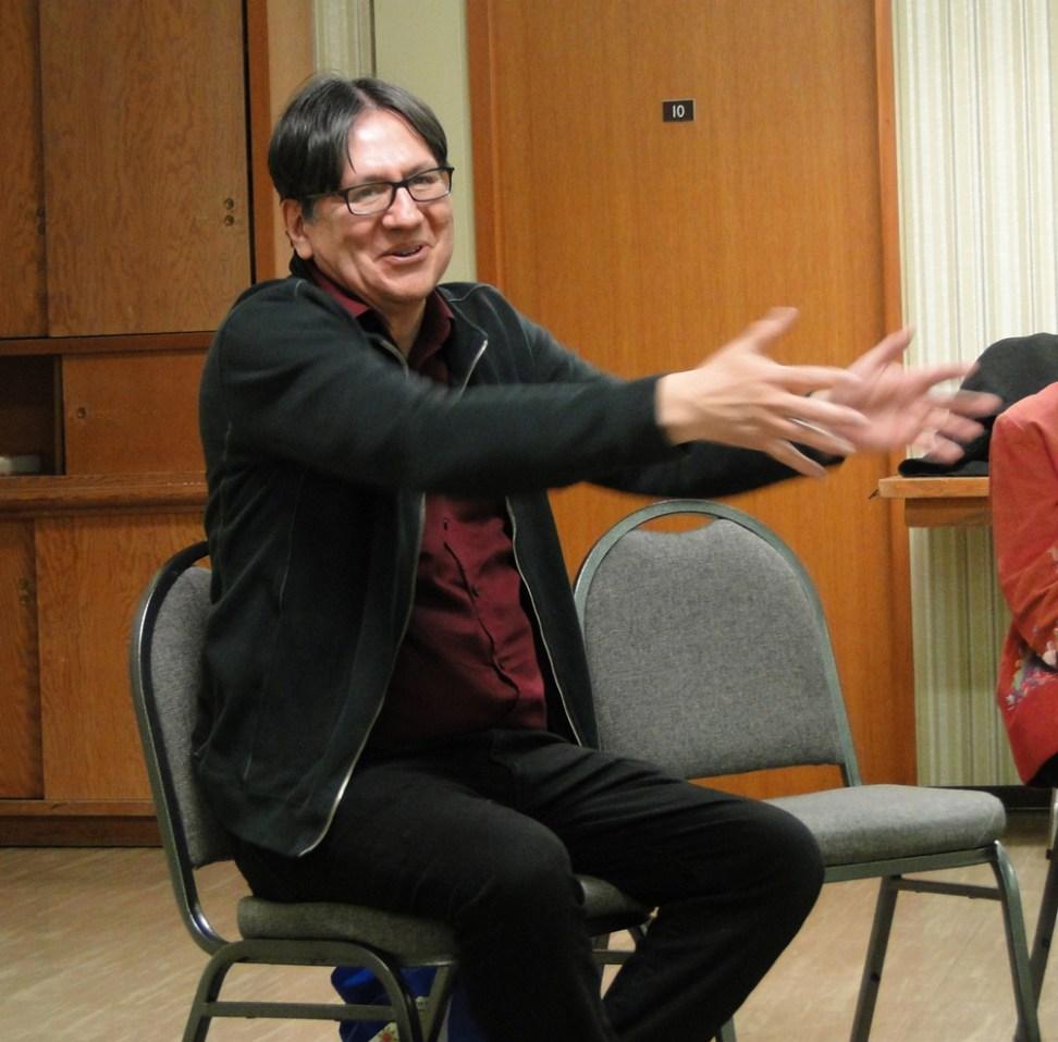 Adrian Jacobs discussing Indigenous spiritualities