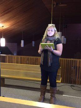 Meghan preaching