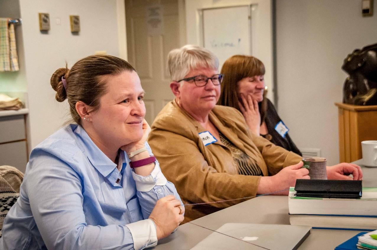 Deb Laforet, Mona Denton, Cheryl Theissen (staff)