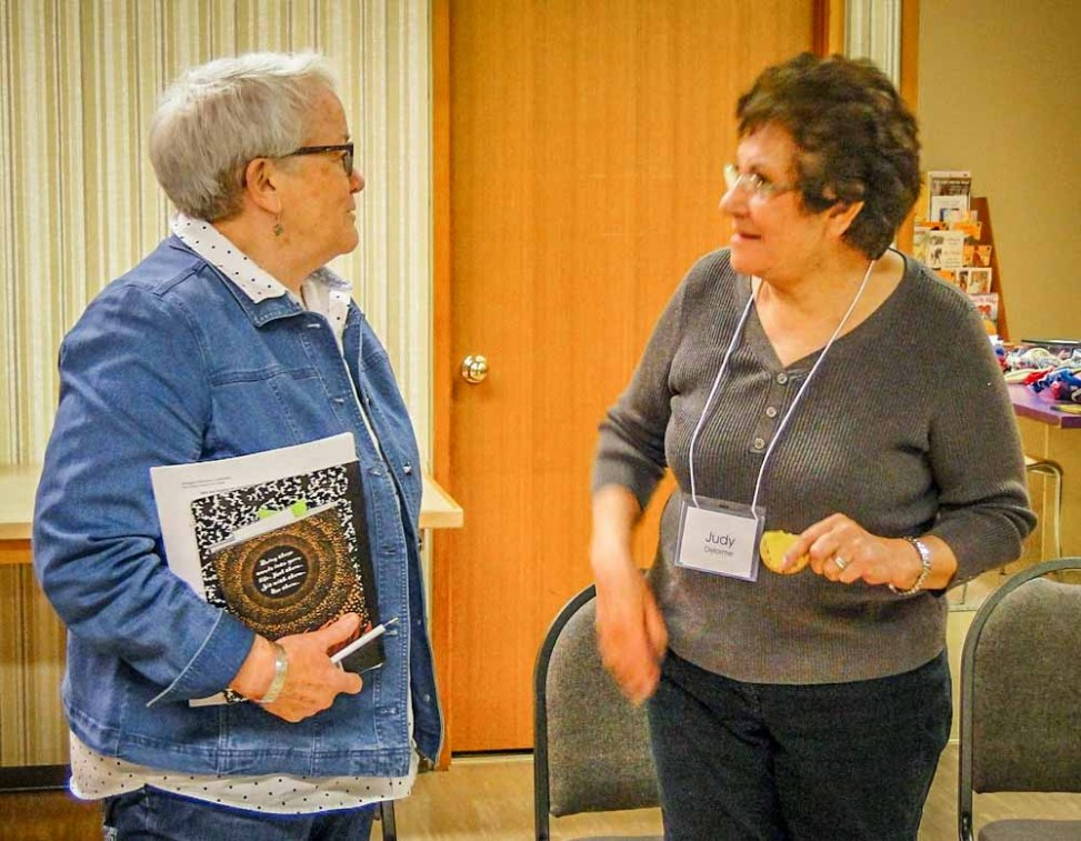 Norah McMurtry, resource person and Judy Delorme, elder