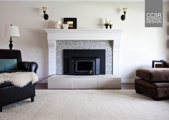 """UPDATE: After Photo Of """"Ugly"""" Brick Fireplace"""