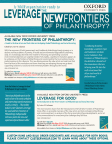 New Frontiers of Philanthropy & Leverage for Good Flyer (2014)